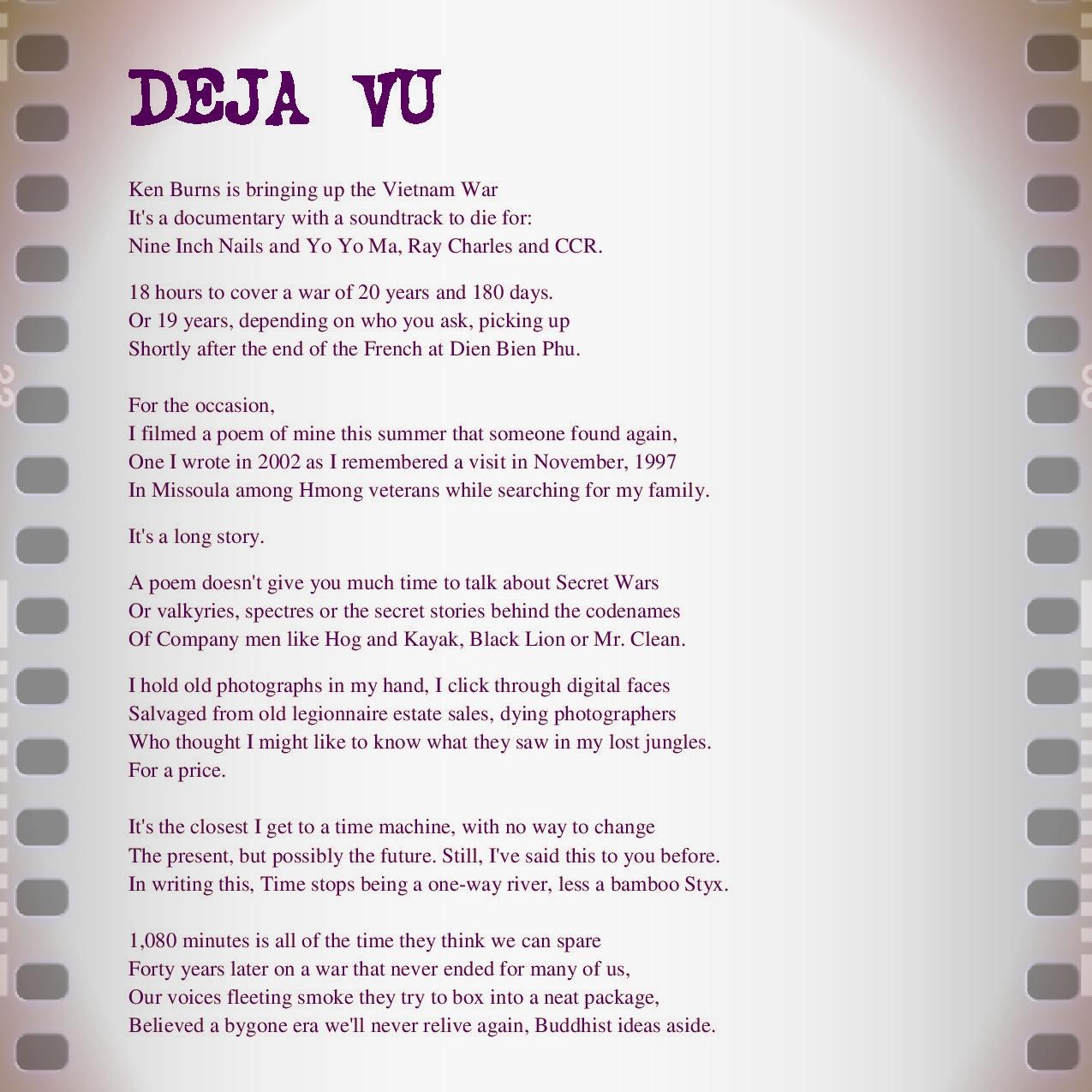 Deja vu poem